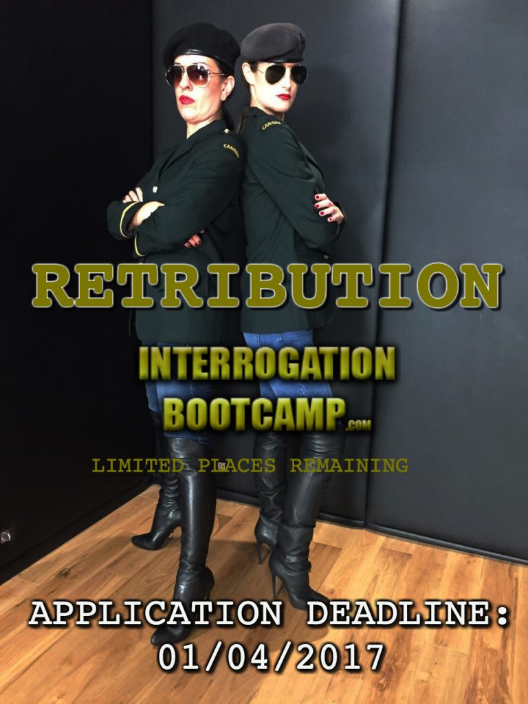 Interrogation Bootcamp – limited spaces