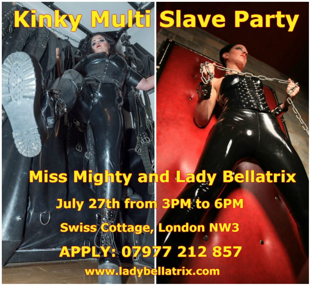 Kinky Multi Slave Party with Miss Mighty on June 27