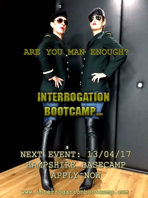INTERROGATION BOOTCAMP – April 15th – introducing Special Agent Whiplash